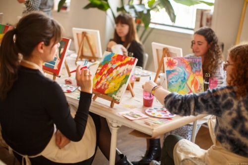 A Painting Party with Tanya Taylor!