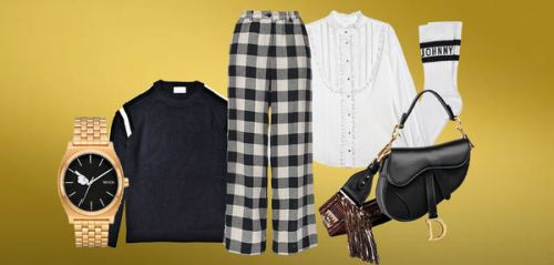 Manteau Claudie Pierlot, sac Dior, pantalon Pinko. les indispensables du week-end