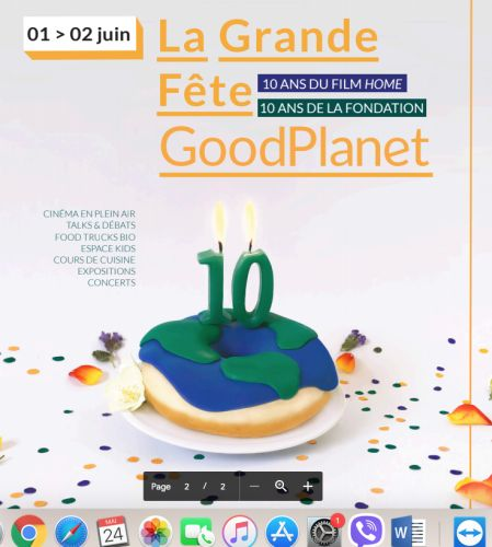 Anniversaire de la Fondation Good planet