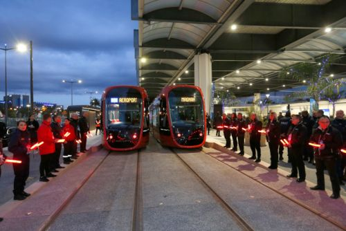 Nice:  inauguration du tramway vers l'aéroport