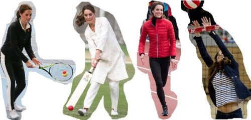 Photos : Kate Middleton, une duchesse très sportive
