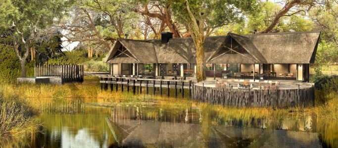 King's Pool, camp royal au Botswana