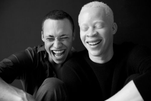 These two male models became fast friends through fashion and adversity