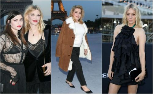 Fashion Week:  les people du show Saint Laurent à Paris