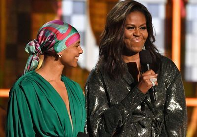 Michelle Obama:  son look inattendu illumine les Grammy Awards 2019