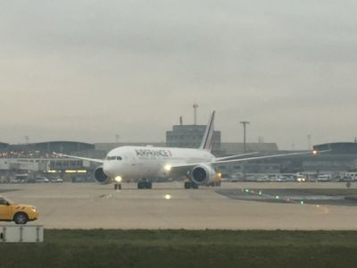 Air France:  le nouveau Boeing 787 se pose à Paris CDG
