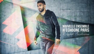 Riyad Mahrez pose pour la nouvelle collection H'echbone Paris