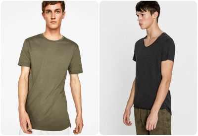 Messieurs, passez au tee-shirt long fit