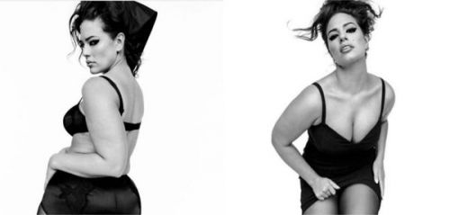 Hot:  Ashley Graham pose en lingerie et sans aucune retouche