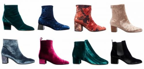 La collection de bottines velours de notre styliste Nathalie Jean