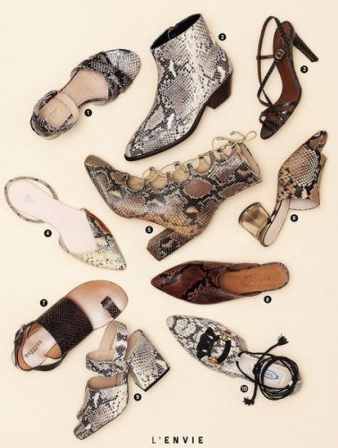 Shopping:  10 chaussures pour adopter la tendance python